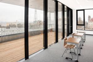 Mehrzweckraum im Dachgeschoss des Modernisierungsbaus.