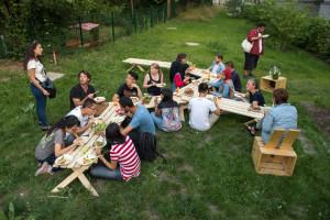 Begrüßt wurden die Teilnehmer mit einem Dinner.