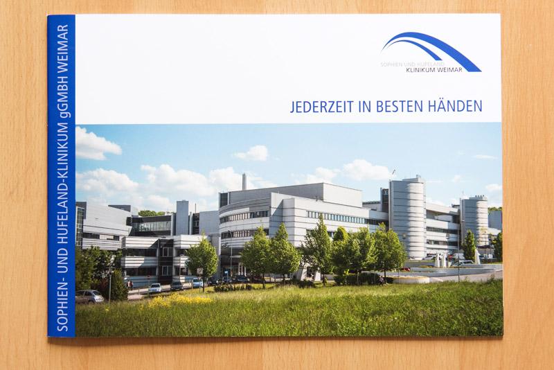 Klinik-Broschüre für das Sophien- und Hufeland-Klinikum Weimar